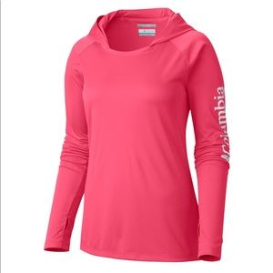 Columbia pink long sleeve PFG outdoor shirt XS